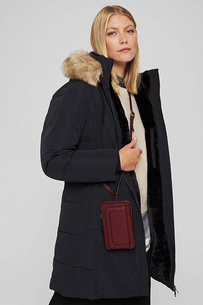 Phone Bag in Lederoptik, vegan, BORDEAUX RED, detail image number 4