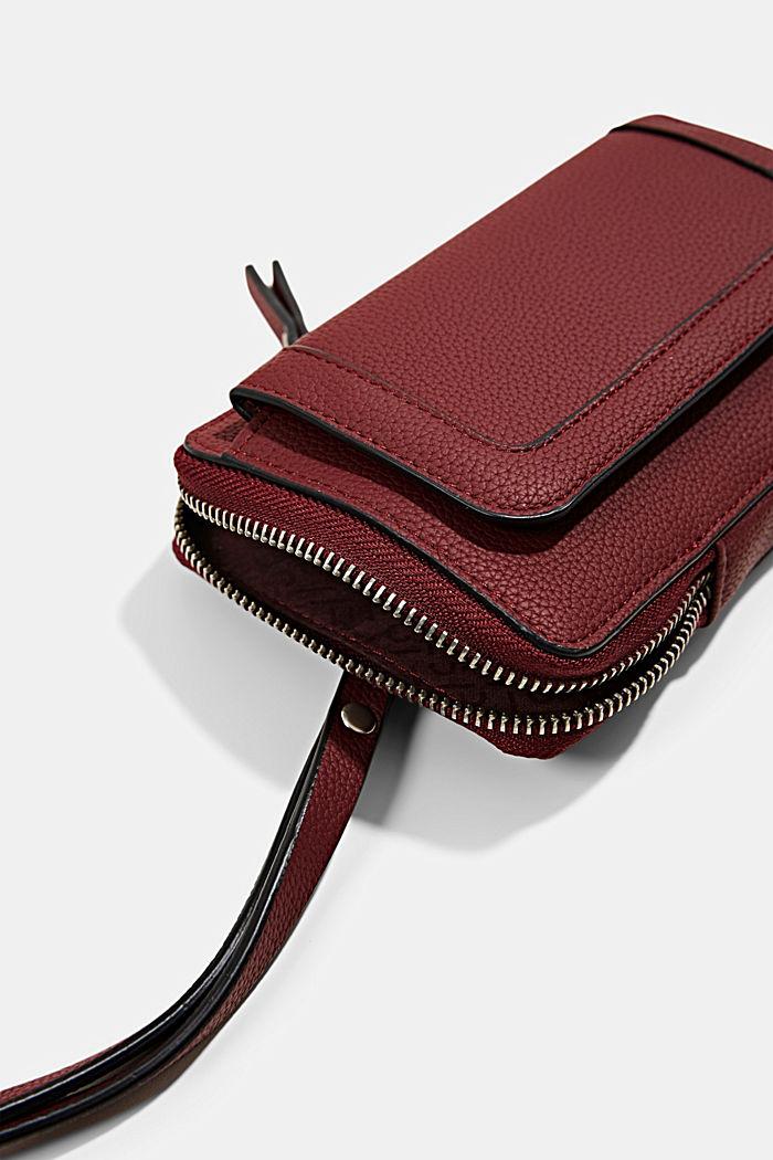 Phone Bag in Lederoptik, vegan, BORDEAUX RED, detail image number 2