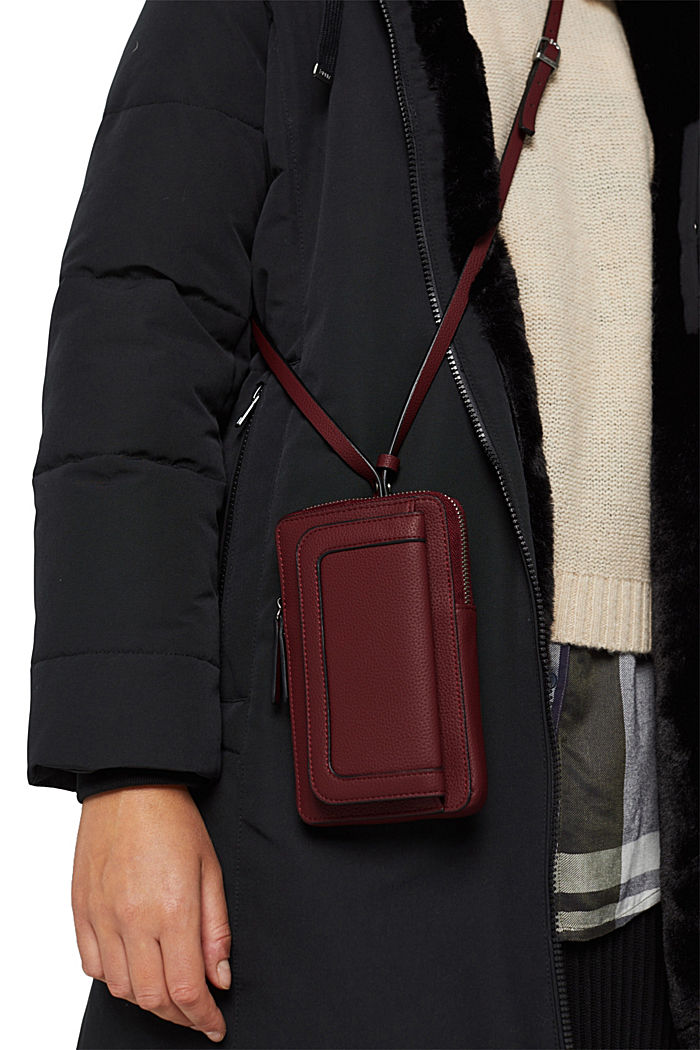 Faux leather phone bag, vegan