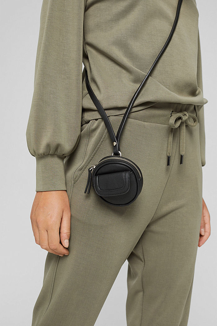 Mini-sac bandoulière en similicuir, vegan