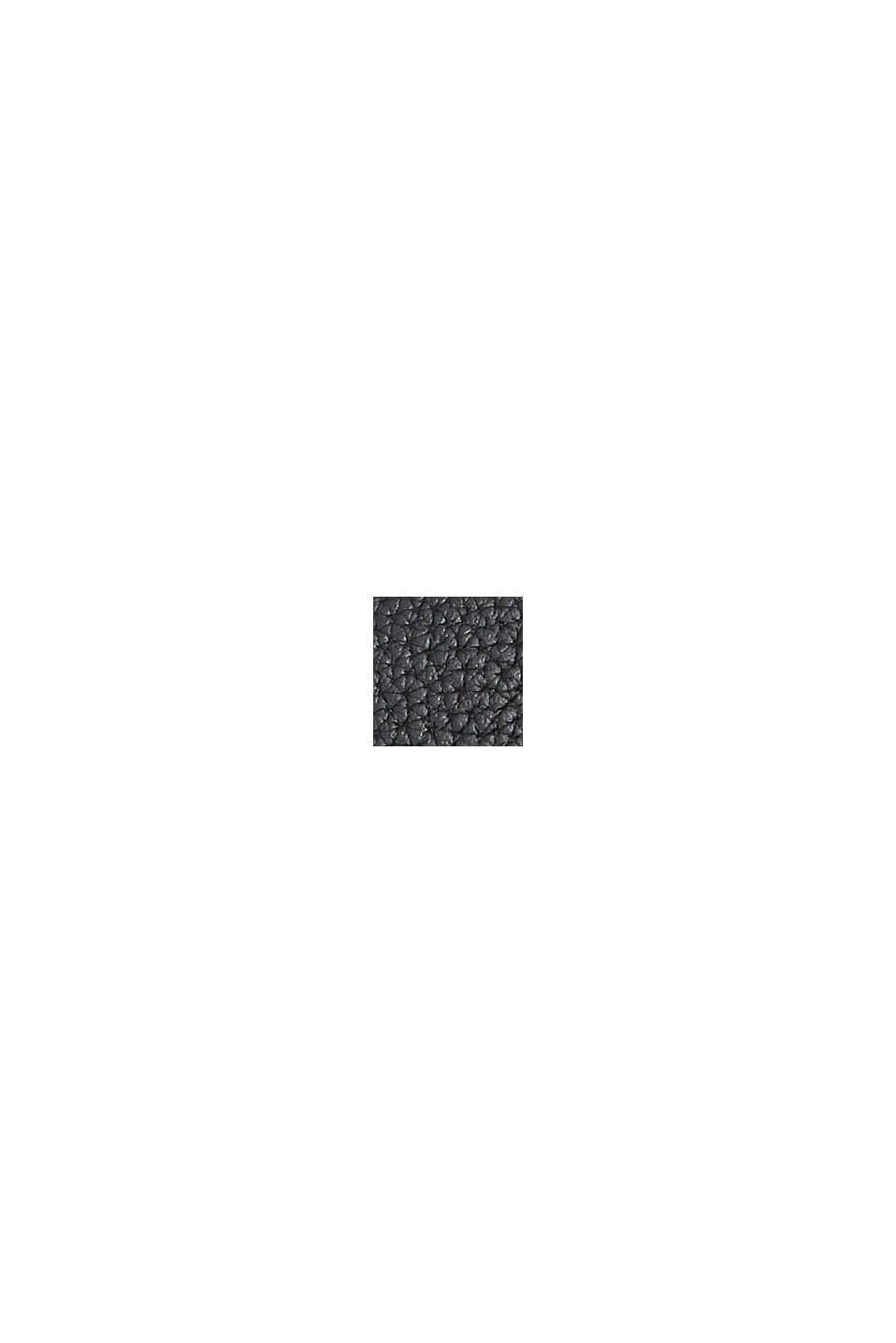 Mini-sac bandoulière en similicuir, vegan, BLACK, swatch