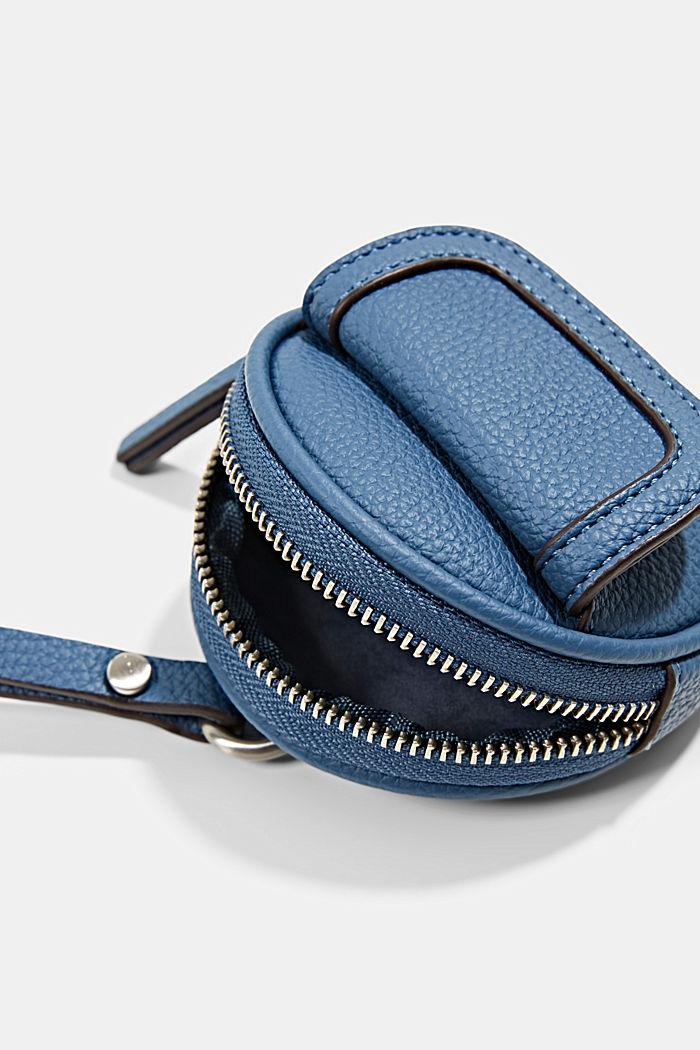 Mini-Schultertasche in Lederoptik, vegan, GREY BLUE, detail image number 2
