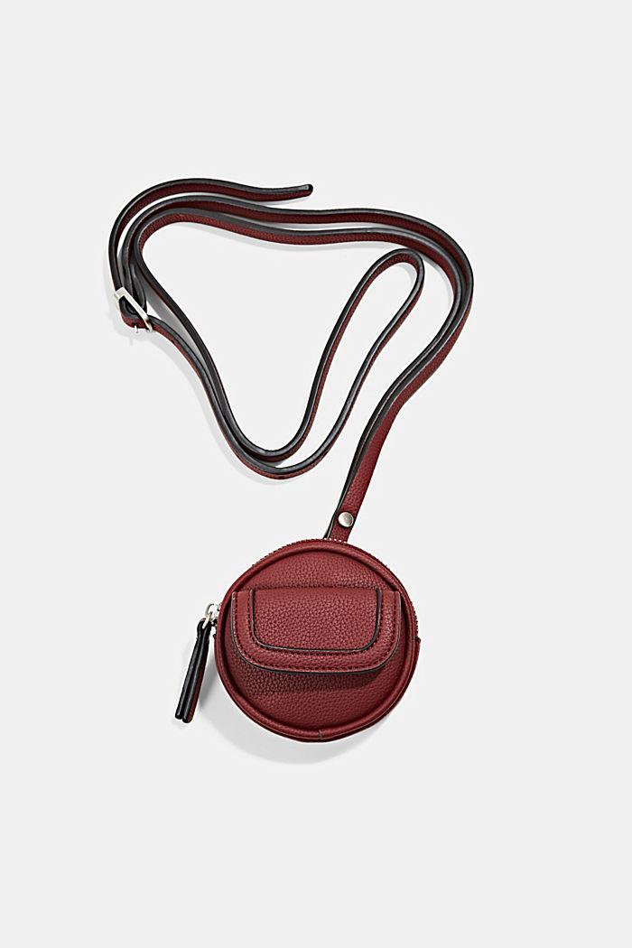 Mini-Schultertasche in Lederoptik, vegan, BORDEAUX RED, detail image number 0