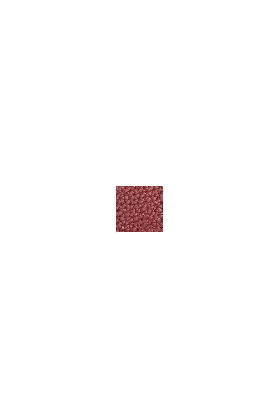 Mini borsetta a tracolla in similpelle, vegan, BORDEAUX RED, swatch