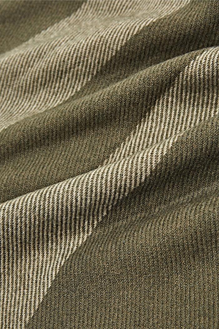 Recycelt: Webschal mit Streifen, DUSTY GREEN, detail image number 2
