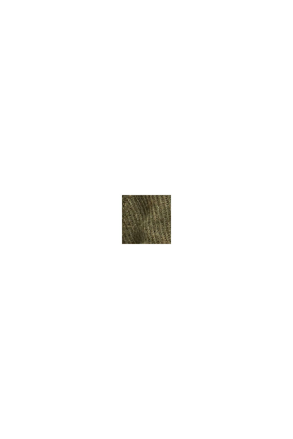 Woven scarf with stripes made with recycled material, DUSTY GREEN, swatch