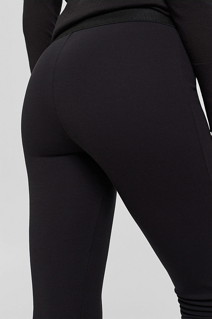 Recycled: cropped trousers in punto jersey, BLACK, detail image number 2