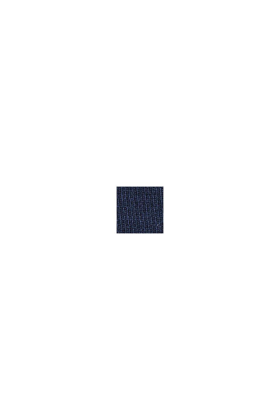 Recycelt: Cropped Hose aus Punto-Jersey, NAVY, swatch