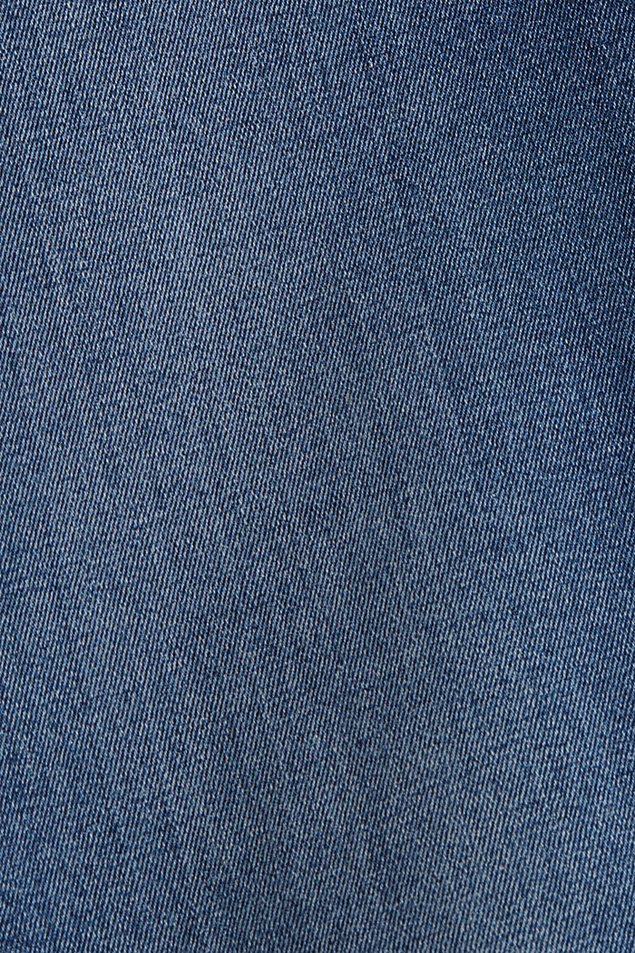 Super stretchy jeans with button fly, organic cotton, BLUE DARK WASHED, detail image number 4
