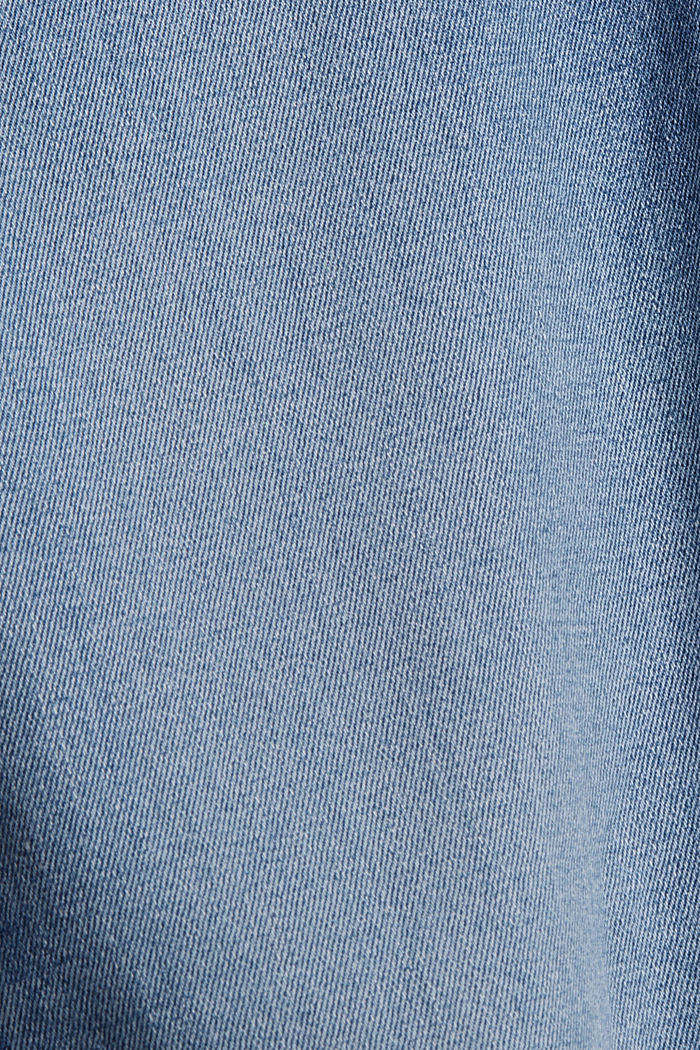 Super stretchy jeans with button fly, organic cotton, BLUE LIGHT WASHED, detail image number 4