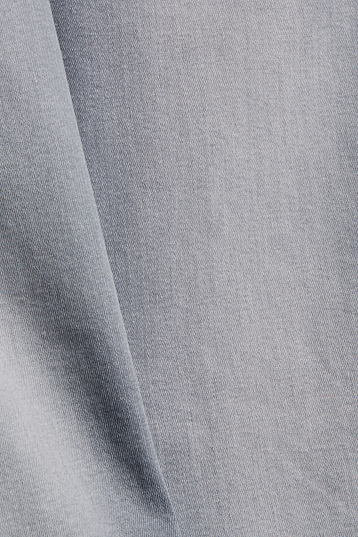 Stretch jeans in organic cotton, GREY MEDIUM WASHED, detail image number 4