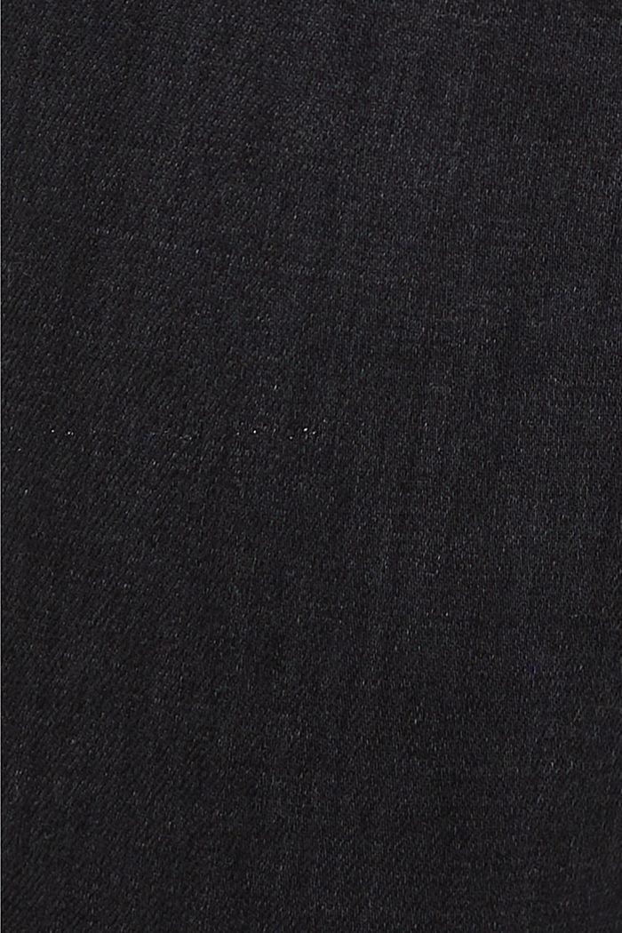 Stretchjeans van biologisch katoen, BLACK DARK WASHED, detail image number 4