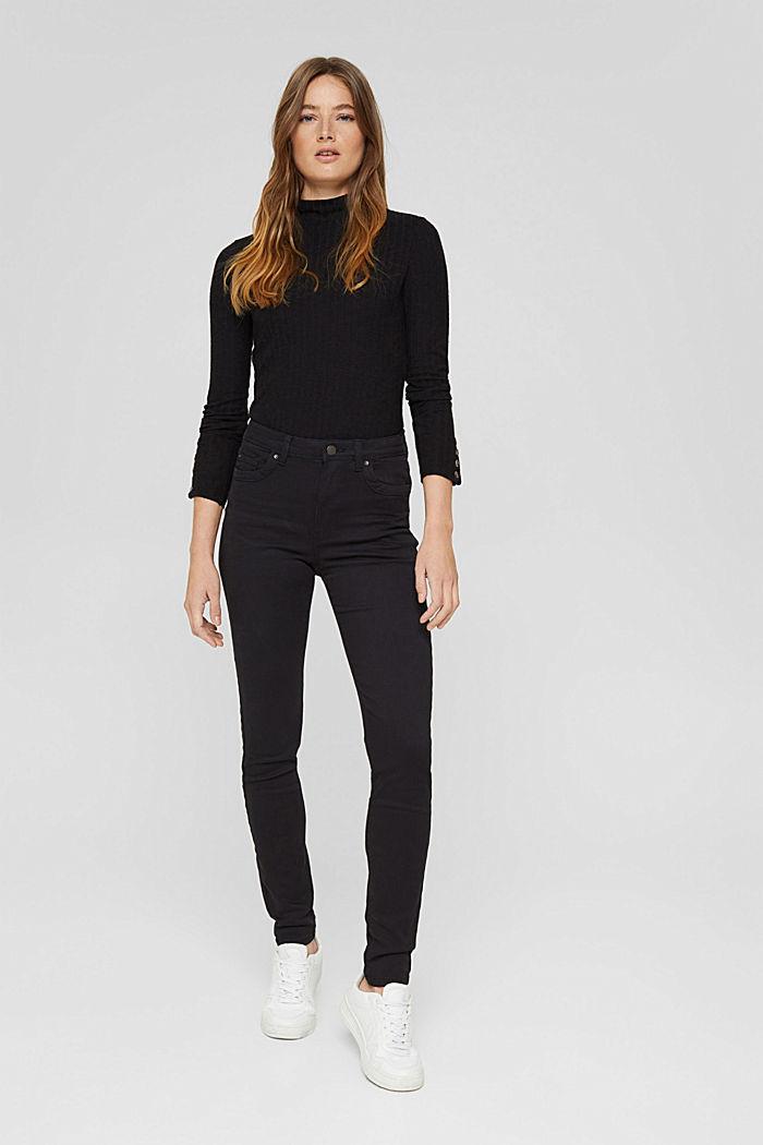 Shaping-Hose mit hohem Bund Organic Cotton, BLACK, detail image number 0
