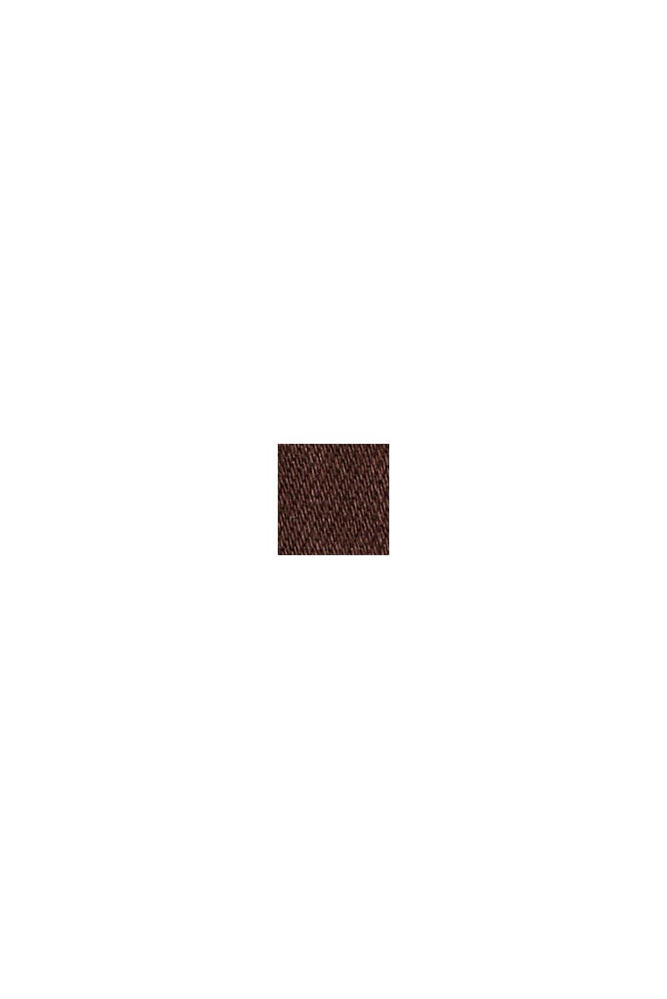 Shaping-Hose mit hohem Bund Organic Cotton, RUST BROWN, swatch