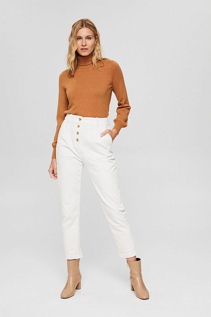 Pantalon en velours côtelé à braguette boutonnée, 100% coton, ICE, detail image number 6