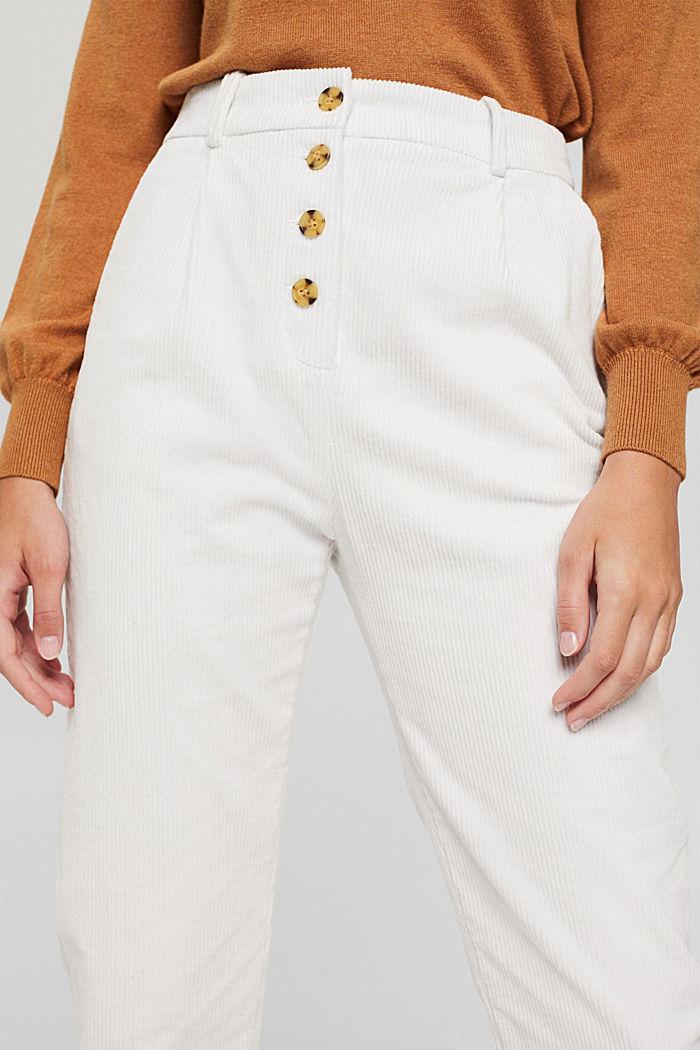 Pantalon en velours côtelé à braguette boutonnée, 100% coton, ICE, detail image number 2