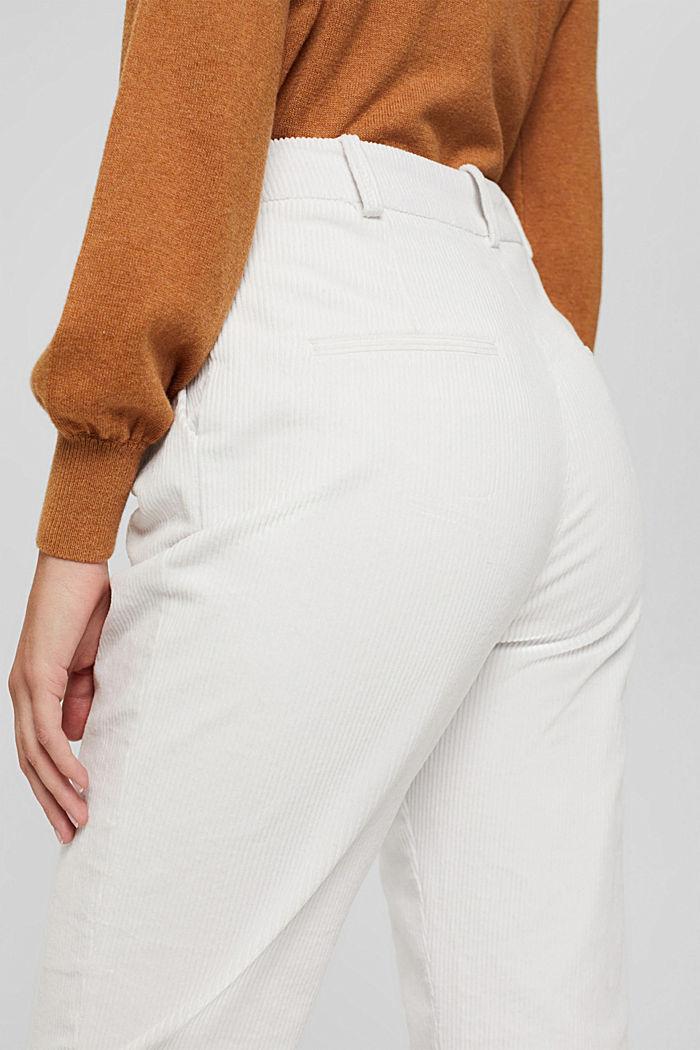 Pantalon en velours côtelé à braguette boutonnée, 100% coton, ICE, detail image number 5