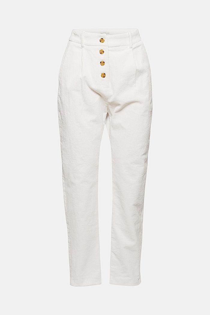Pantalón de pana con bragueta, 100 % algodón