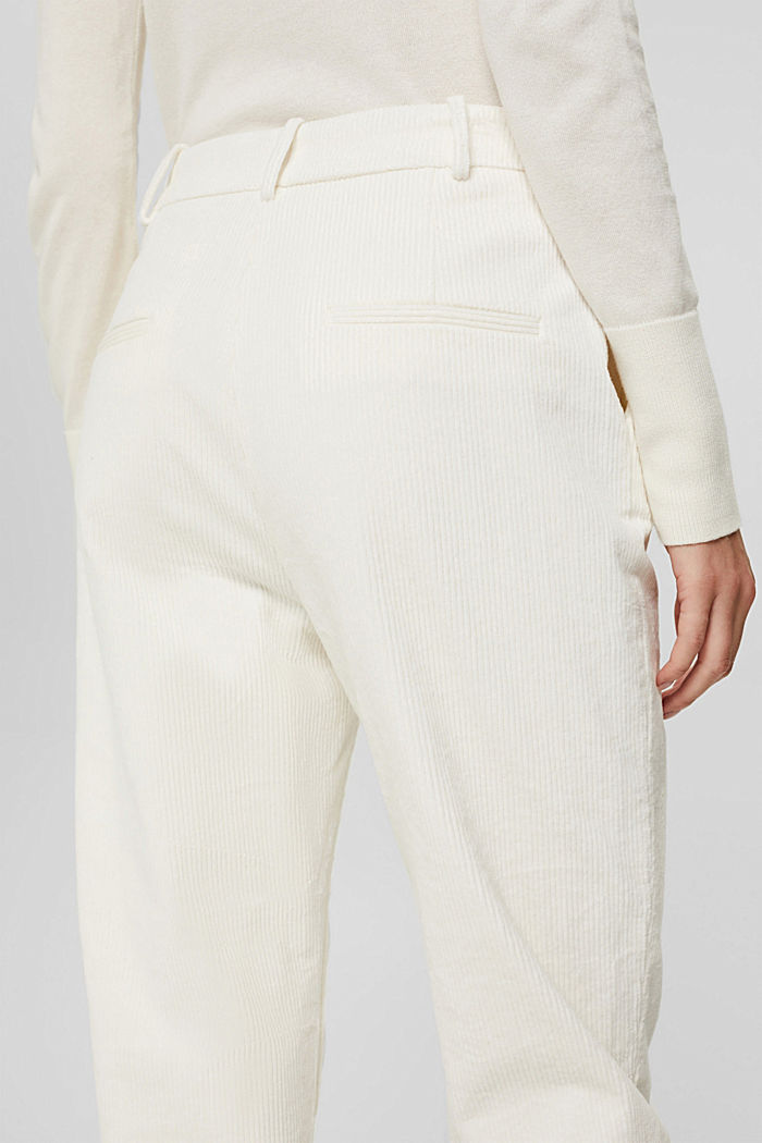 Cord-Hose mit Buttonfly aus 100% Baumwolle, OFF WHITE, detail image number 5