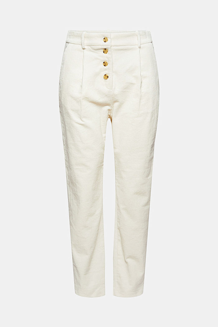 Cord-Hose mit Buttonfly aus 100% Baumwolle, OFF WHITE, detail image number 7