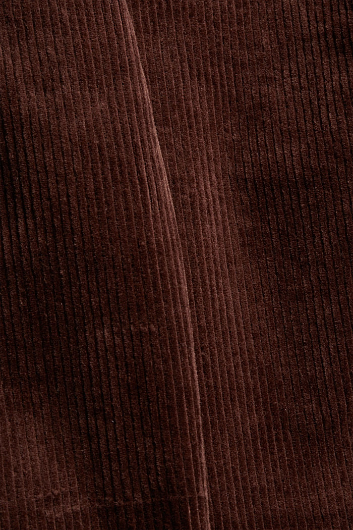 Corduroy trousers with a button fly made of 100% cotton, RUST BROWN, detail image number 4