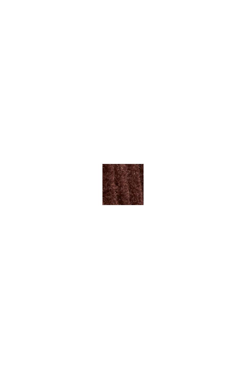 Fløjlsbukser med knappet gylp, i 100% bomuld, RUST BROWN, swatch