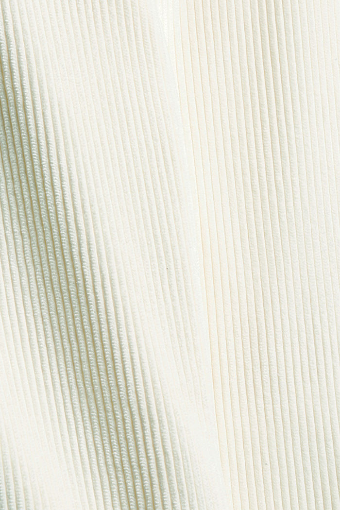 Recycelt: cropped Pull-on-Hose aus Cord, OFF WHITE, detail image number 4