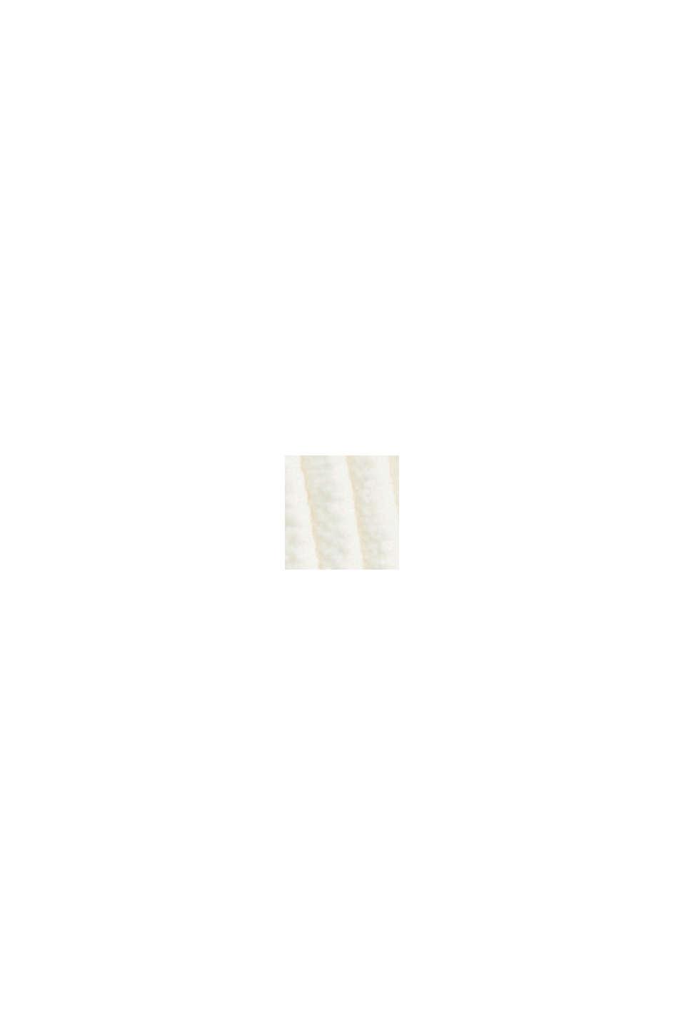 En matière recyclée: le pantalon court à enfiler en velours côtelé, OFF WHITE, swatch