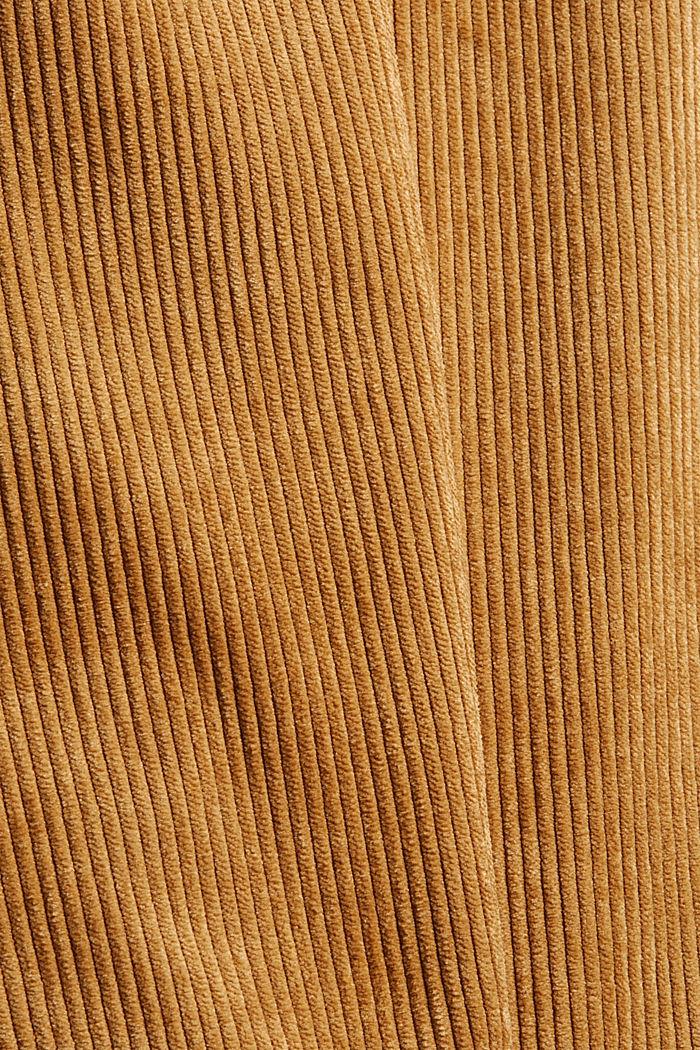 Gerecycled: cropped pull-on-broek van corduroy, CAMEL, detail image number 4