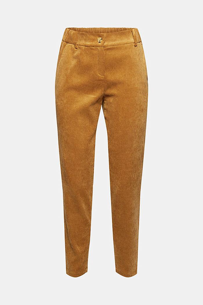 Gerecycled: cropped pull-on-broek van corduroy