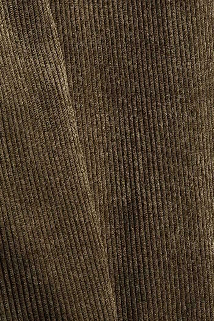 Recycled: cropped pull-on corduroy trousers, DARK KHAKI, detail image number 3