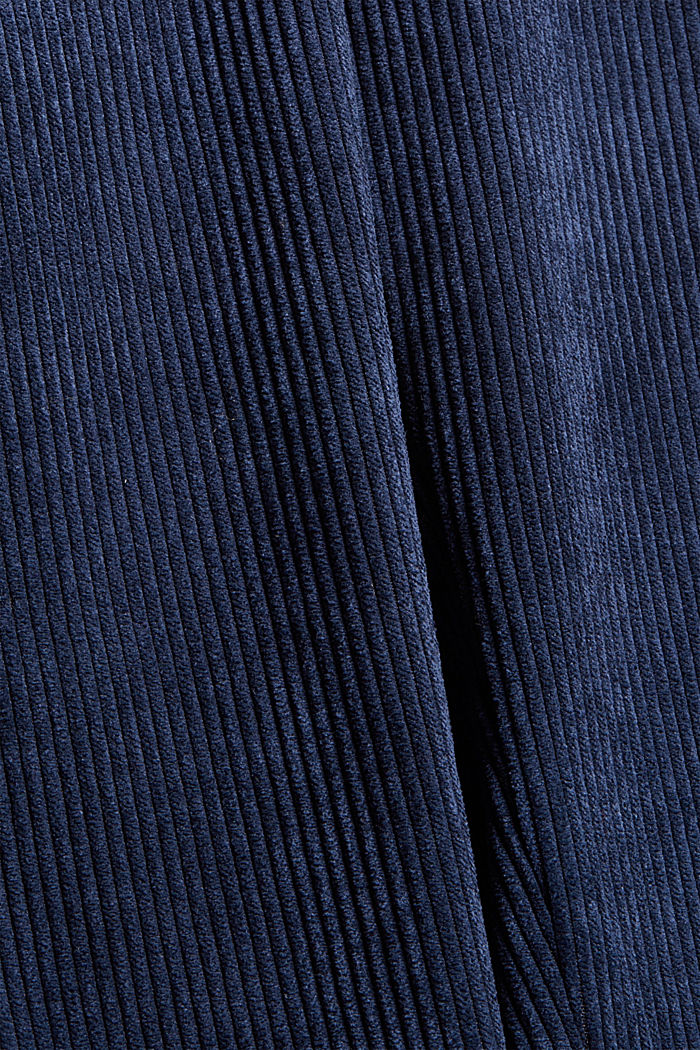 Recycelt: cropped Pull-on-Hose aus Cord, NAVY, detail image number 4
