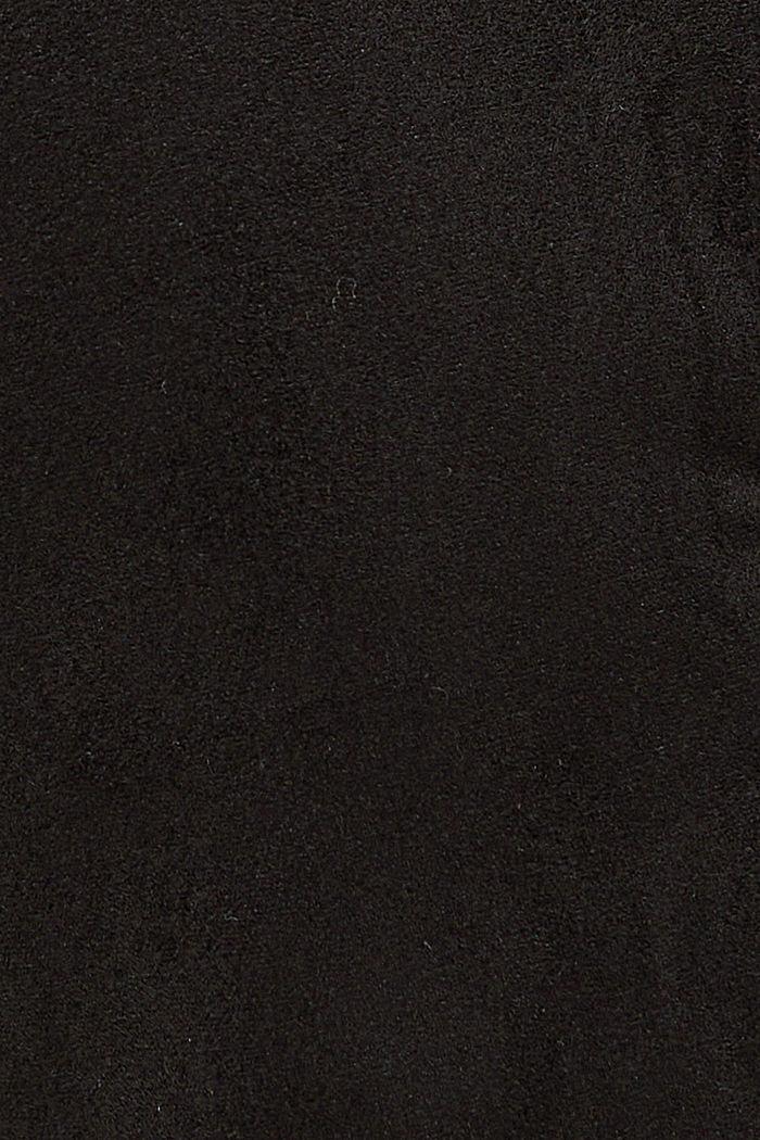 Jogg-Pants in Veloursleder-Optik, BLACK, detail image number 4