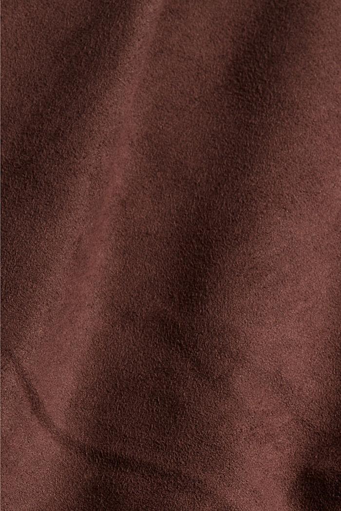 Jogg-Pants in Veloursleder-Optik, RUST BROWN, detail image number 4