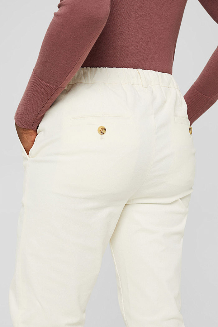 Pull-on-Hose im Chino-Stil aus Feincord, OFF WHITE, detail image number 2