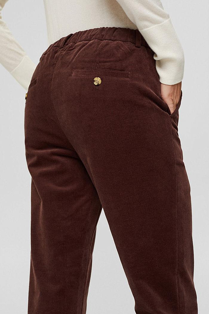 Pantalon à enfiler de style chino en fin velours, RUST BROWN, detail image number 5