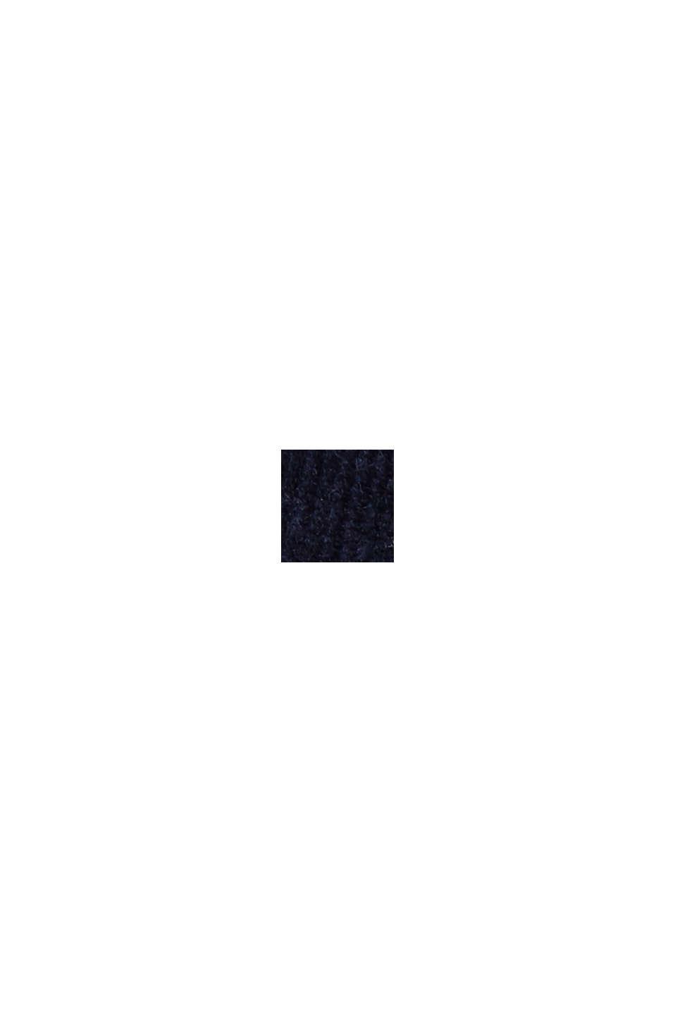 Wsuwane spodnie w stylu chinosów z cienkiego sztruksu, NAVY, swatch