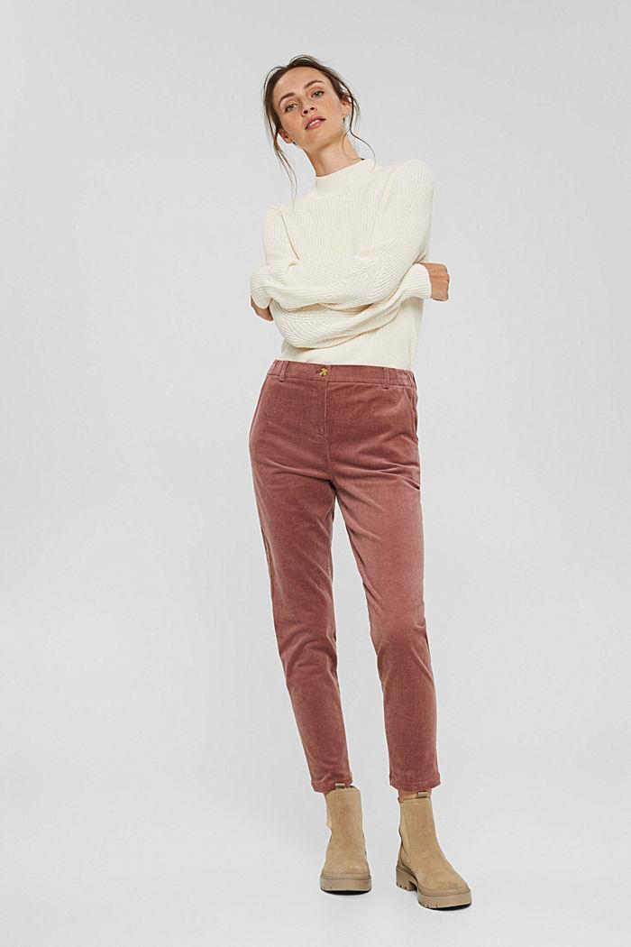 Pantalon à enfiler de style chino en fin velours