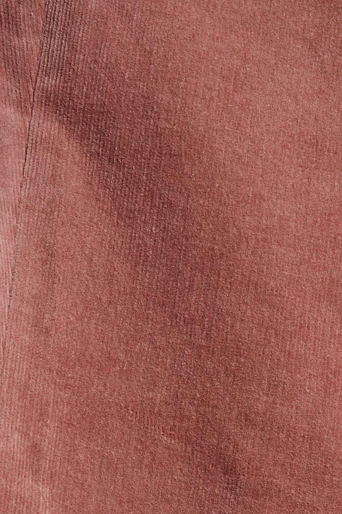Pull-on-Hose im Chino-Stil aus Feincord, DARK OLD PINK, detail image number 4