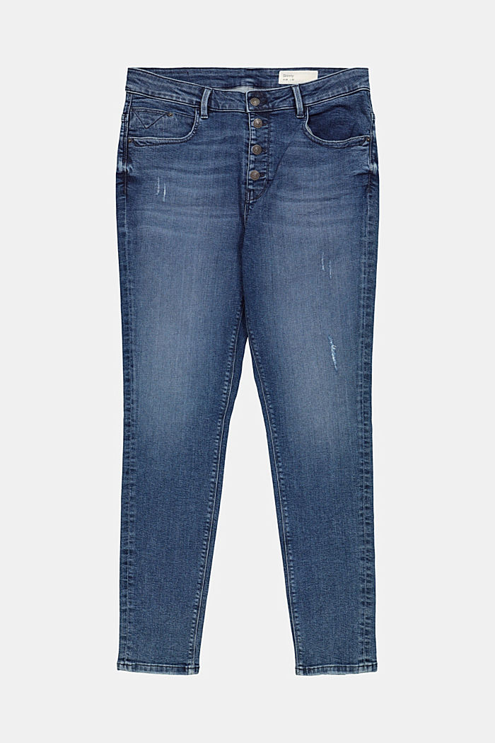 CURVY Jeans mit Button-Fly, Organic Cotton