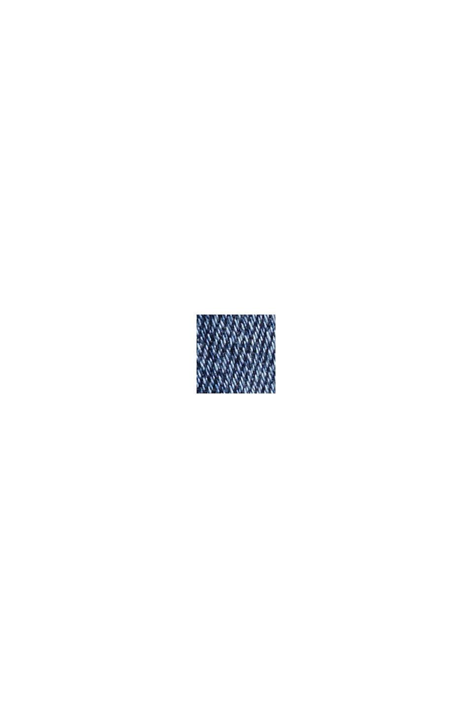 CURVY jeans met knoopgulp, organic cotton, BLUE DARK WASHED, swatch