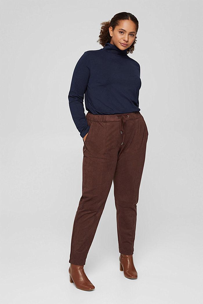 Pantalon de jogging CURVY en similicuir velours