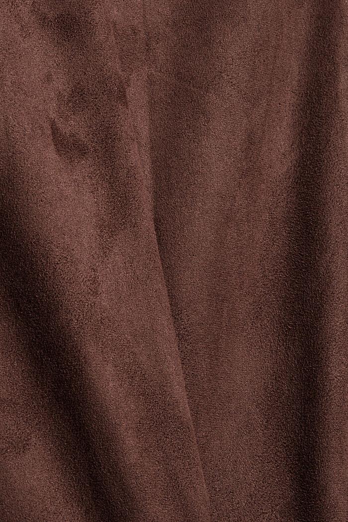 CURVY Jogger in Veloursleder-Optik, RUST BROWN, detail image number 4