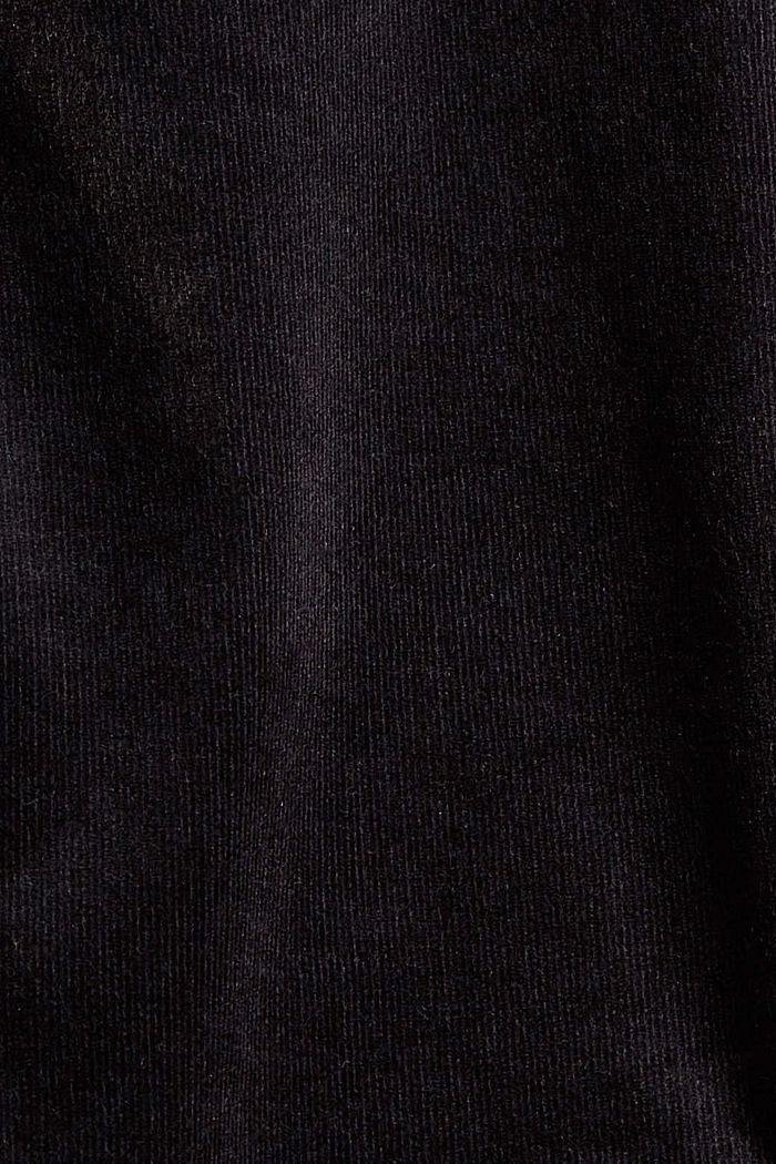 Corduroy broek van een katoenmix, BLACK, detail image number 4