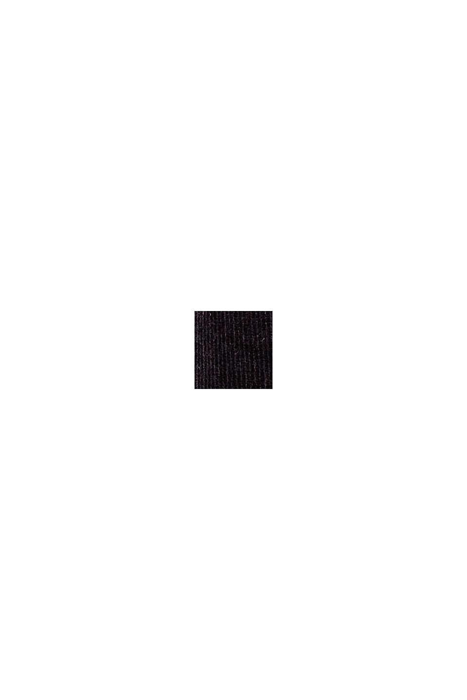 Feincord-Hose aus Baumwoll-Mix, BLACK, swatch