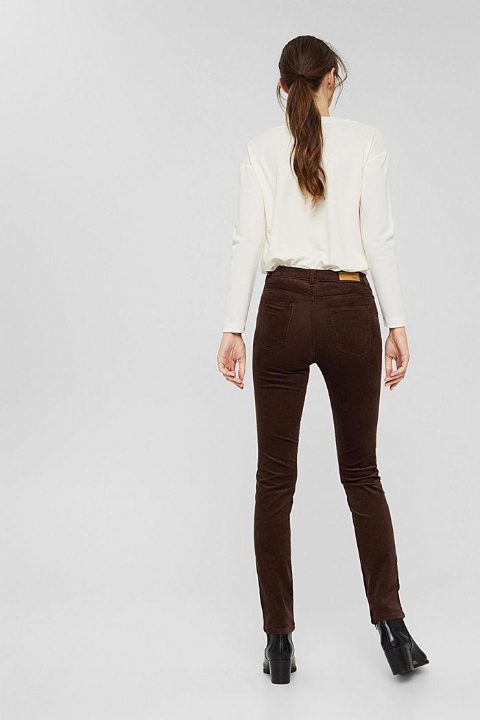 Pantalon en fin velours de coton mélangé, RUST BROWN, detail image number 3