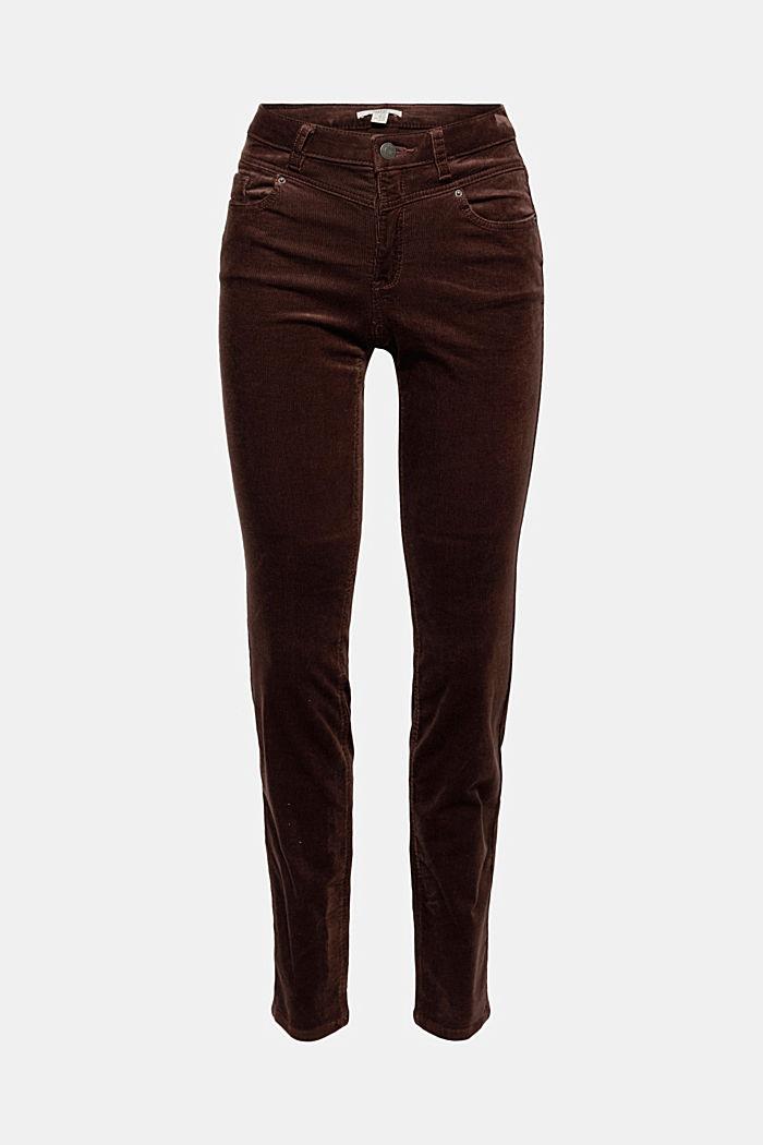 Pantalon en fin velours de coton mélangé