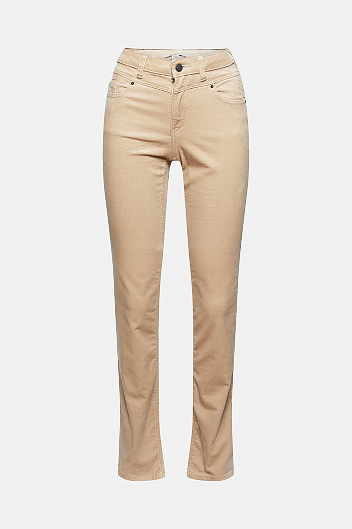 Needlecord trousers in blended cotton