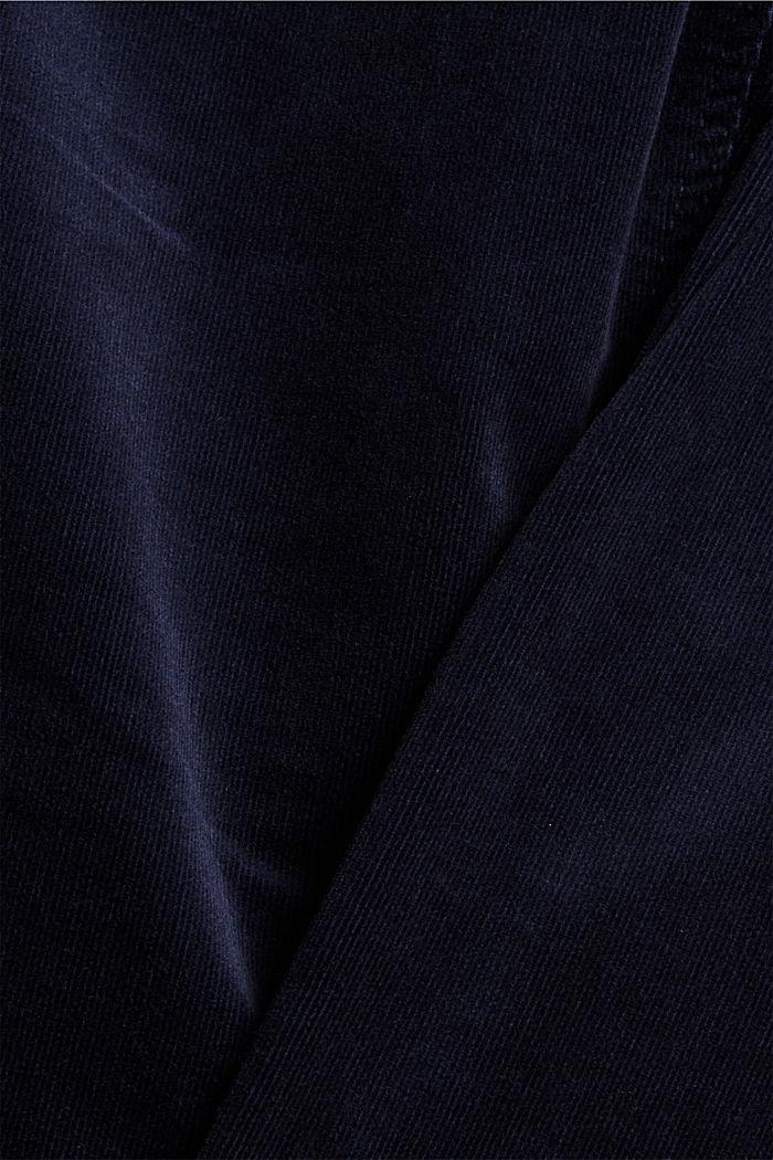 Pantalon en fin velours de coton mélangé, NAVY, detail image number 4