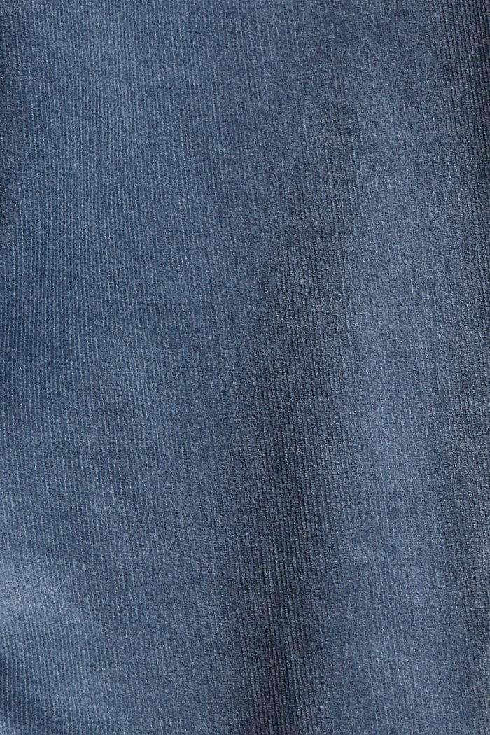 Corduroy broek van een katoenmix, GREY BLUE, detail image number 4